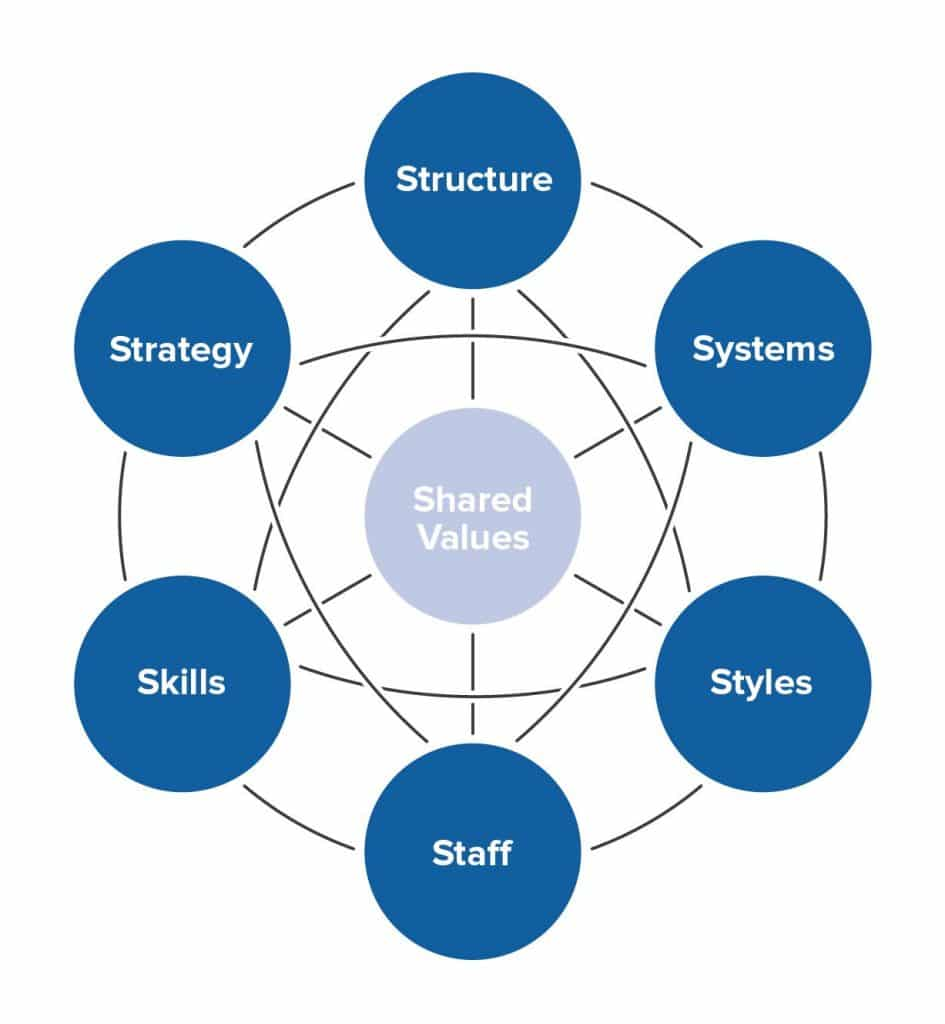 The McKinsey 7-S Framework.