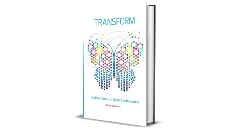 Book Review: Transform by Gerry McGovern