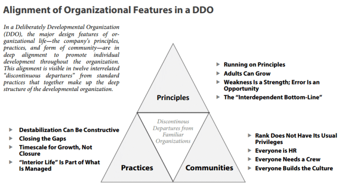 Fig. 10: Alignment of Organisational features in a DDO (Kegan and Laskow Lahey, 2016)