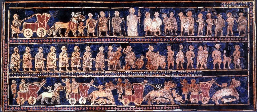 Fig.2: The Standard of Ur. ca. 2600 b.C. Source: Wikimedia