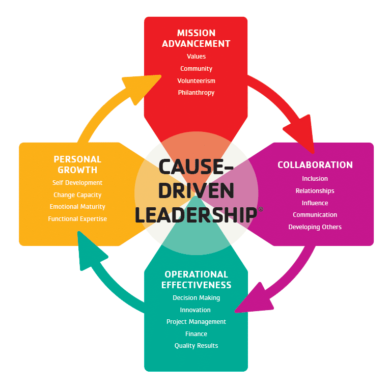 YMCA Cause Driven Leadership. Source: Developing Strong Leaders, 2013 (YMCA, 2013)