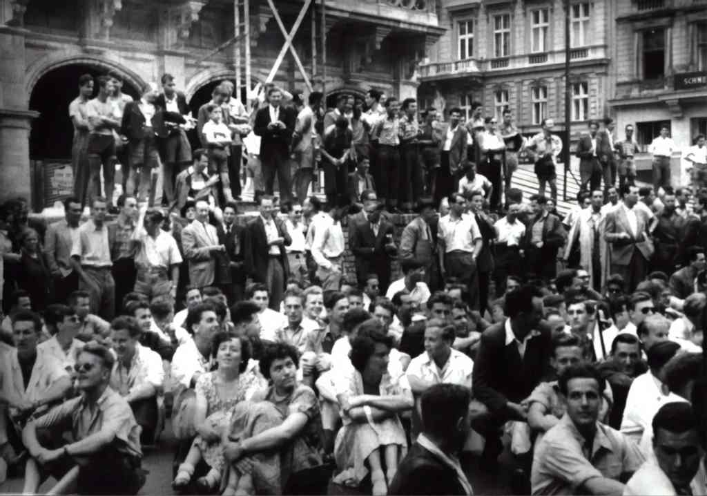 Fig.1: A Student's Strike in Vienna, 1953. The different Discourses of Work affected Society deeply in many ways. Photo by Austrian National Library on Unsplash