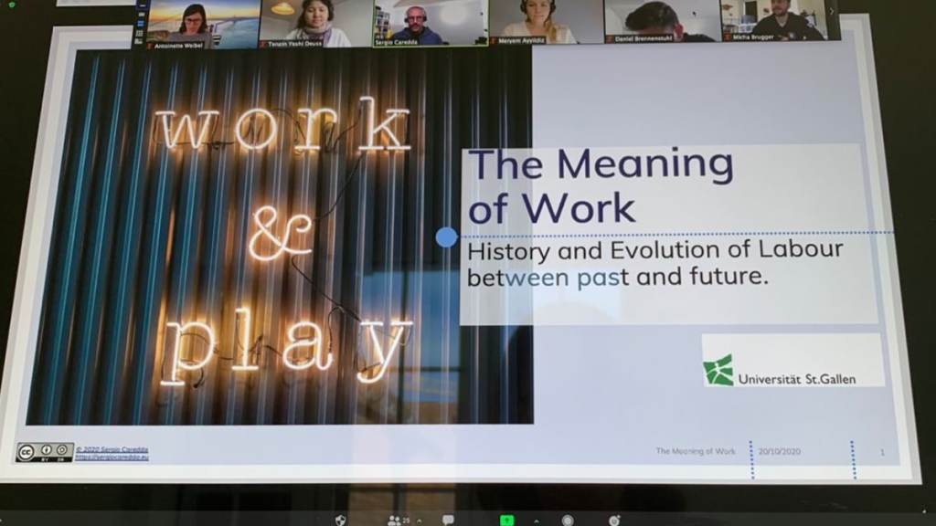 The Meaning of Work. My Presentation at Universität St.Gallen (HSG)