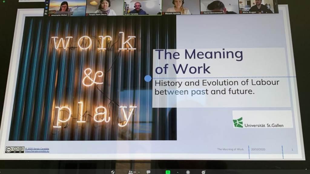 The Meaning of Work. My Presentation at Universität St.Gallen (HSG)