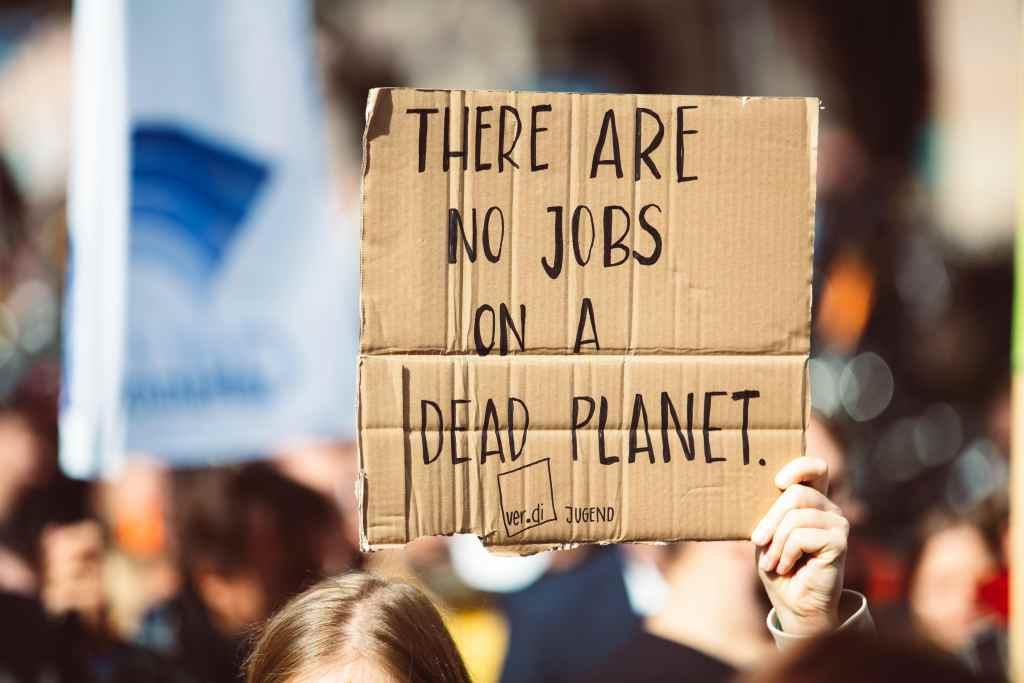Fig.7: A demonstration on Global Warming. Photo by Markus Spiske on Unsplash