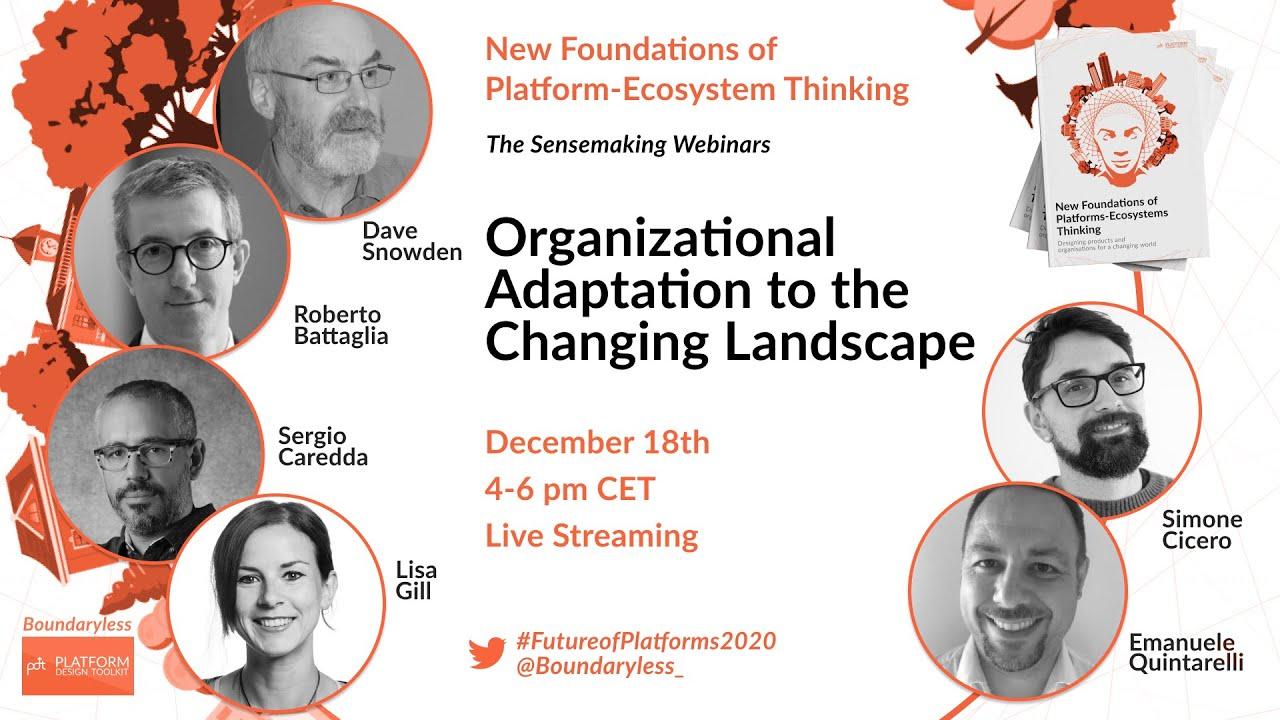 Online Webinar: Organisational Adaptation to the Changing Landscape 3